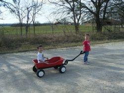 Wagon rides, taking turns
