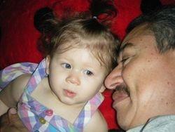 Emma ma Jeannie and grandad