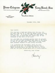 Letter sent by Charley Dec.1938