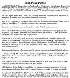 Borah Pushes Paddock