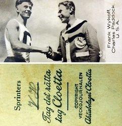 1930's Swedish Sports card