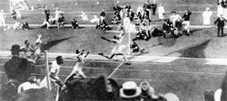 Winning the Gold medal 1920
