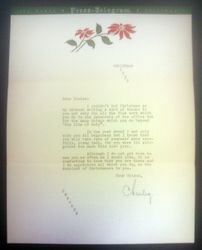 Letter sent by Charley Dec.1939
