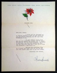 Letter sent by Charley Dec.1940