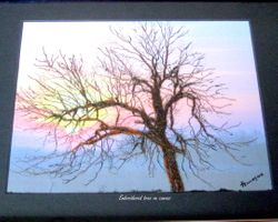 Embroidered tree on Canvas