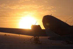 Sun rise with C-130