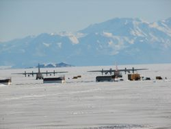 Pegasus Airfield on the Ross Ice shelf