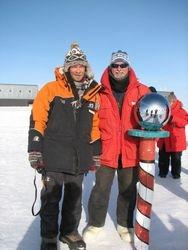South pole with Facon Scott - Grandson of Capt. Robert Scott