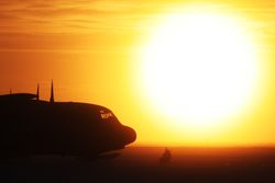 C-130 nose with sun