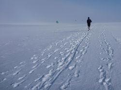 Running on the ice