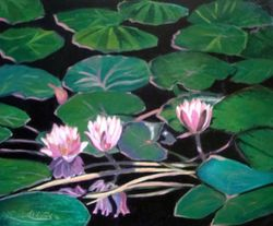 Water Lillies- Acrylic