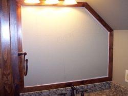 Mirror frame in loft bath (minus mirror)