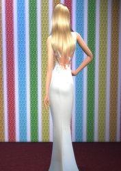 Sasha's dress from the back