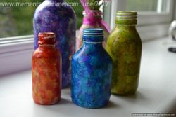 Alcohol Ink Decorated Bottles