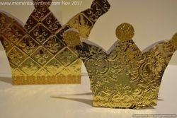 Simple Embossed Crowns