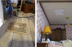 Way into attic