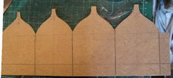 Card (1 mm) cut for small cupola