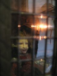 Through the sitting room window