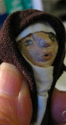 Dressed head to see if can use first head - DAS clay