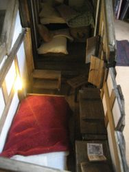 and it is a step down from the little bed cubby