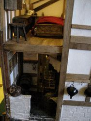 The bedroom is over the scullery
