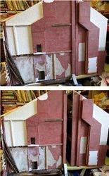 Been using fibreglass sheets of bricks