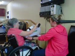 Dementia Stroke Patient Exercising