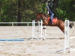 Jiyah enjoyed jumping