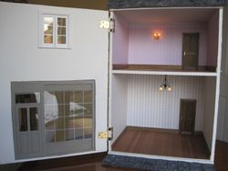 The Inside of the house with false doors.