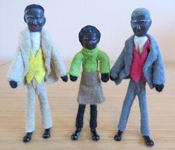 Dol-toi Figertoi Afro Family Dolls