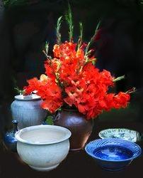 Gladiolas and Pots by Karen Davidson (AC)
