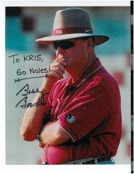 Bobby Bowden sent Kris an autographed photo
