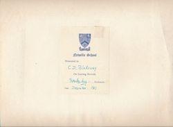 Presentation note to Newells School Aerial Photo - 1967