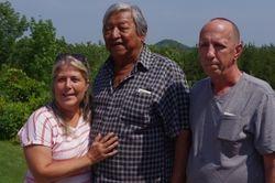 Travelers to sacred mountain