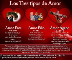 Tres tipos de amor