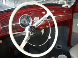 1963 Ruby Red Beetle Interior!