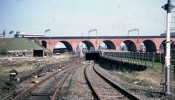 Viaduct and railway tunnel