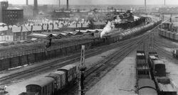 Georges Road shunting sidings 1950s.
