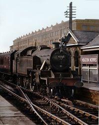 Stannier engine at Heaton Norris Station