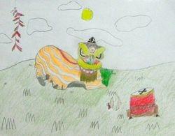 "Evelyn Dai, age 6, ""Lion Dance"""