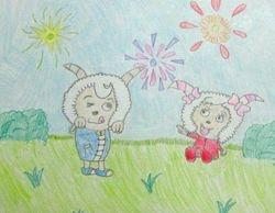 "Claire Wang, age 8, ""Chinese Cartoon Show Mei YangYang"""