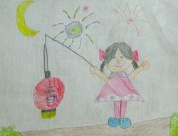 "Chloe Wang, age 6, ""Girl with a Lantern"""