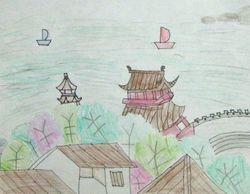 """Vivian Lang, age 7, """"Chinese Scenery"""""""