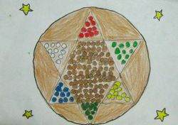 "Amy Simon, age 6, ""Chinese Checkers"""