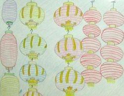 """Danika Luo, age 10, """"Chinese Lanterns"""""""