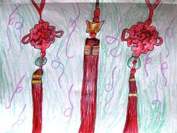 """Emily Mao, age 8, """"Chinese Knots"""""""