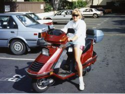 Julie On Scooter