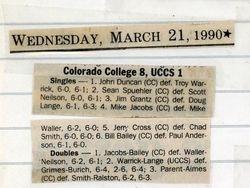 6th Singles vs Colorado College