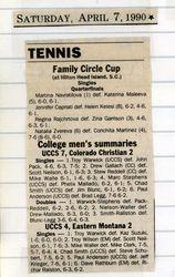 6th Singles vs Colorado Christian & 5th Singles vs Eastern Montana