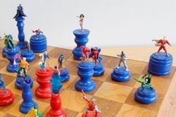 DC vs Marvel Chess Set In Action